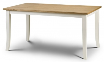 Davenport Rectangular Dining Table - Ivory and Oak