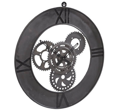 Factory Metal Wall Clock Large