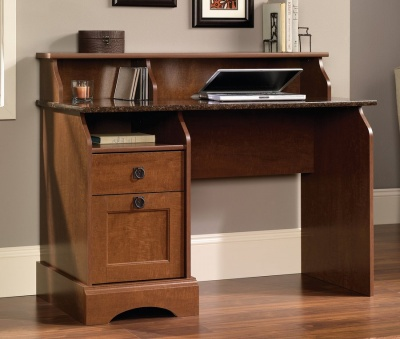 Farmhouse Desk with Granite Style Desk Top