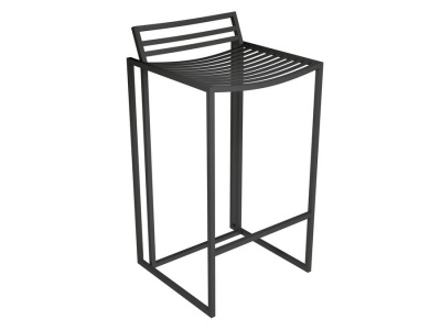Federico Black Bar Stool