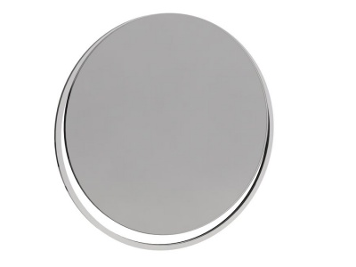 Federico Circular Wall Hanging Mirror with Chrome Frame