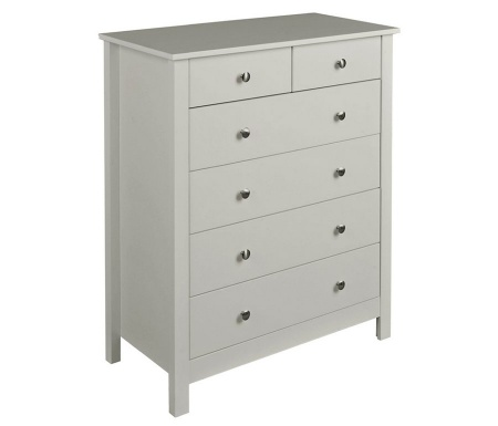 Florence Soft Grey 4 + 2 Drawer Chest