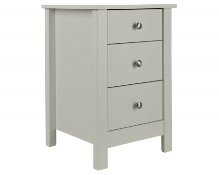 Florence Soft Grey Bedside Table