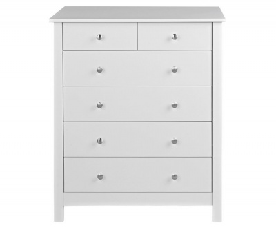 Florence White 4 + 2 Drawer Chest