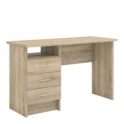 Function Plus Desk 3 Drawers in Oak Effect