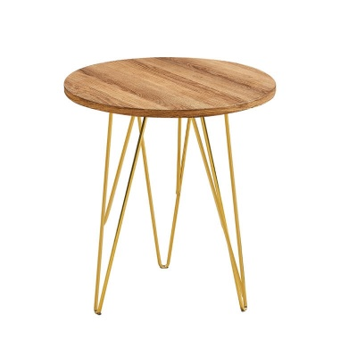 Fusion Lamp Table Wood with Gold Wired Legs
