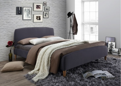 Geneva Bed - Dark Grey - Double