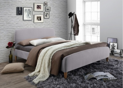 Geneva Bed - Light Grey - King-Size
