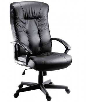 Gloucester Executive High Back Leather Faced Chair