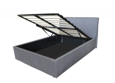 Grey Fabric Robust Ottoman Storage Bed - King-Size
