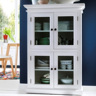 Halifax White 2 - Level Pantry with  4 Doors
