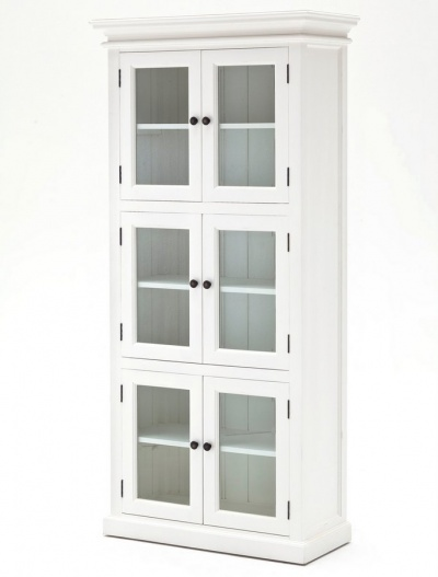 Halifax White 3 - Level Pantry with 6 Doors