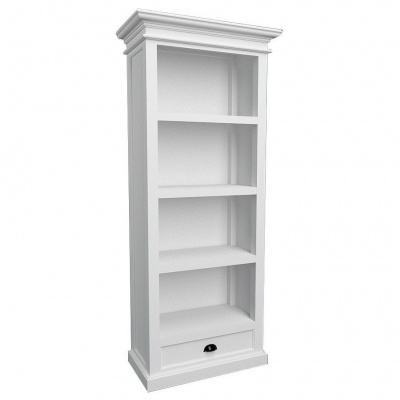 Halifax White Bookcase with 1 Drawer