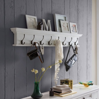 Halifax White Eight - Hook Coat Rack