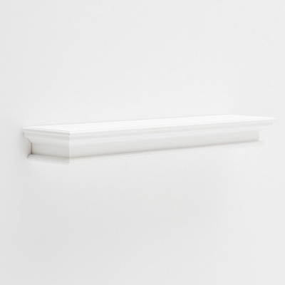 Halifax White Floating Wall Shelf, Extra Long
