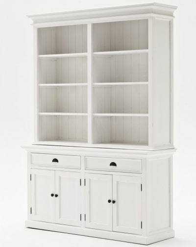 Halifax White Hutch Bookcase Unit