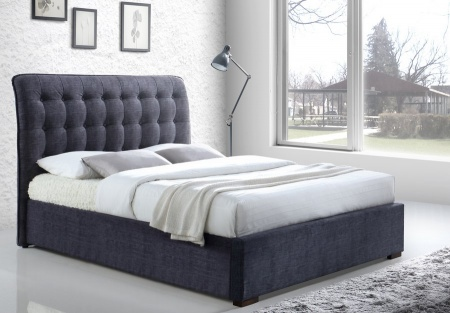 Hamilton Grey Fabric Bed Frame - King-Size