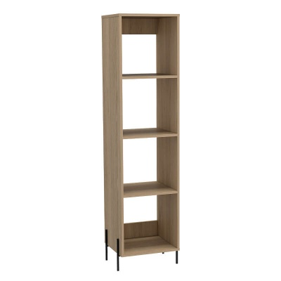 Harvard Washed Oak Narrow Bookcase