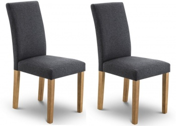 Hastings Slate Linen Style Dining Chairs- Set