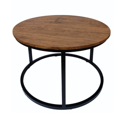 Java Coffee Table Black Frame - Distressed Tops