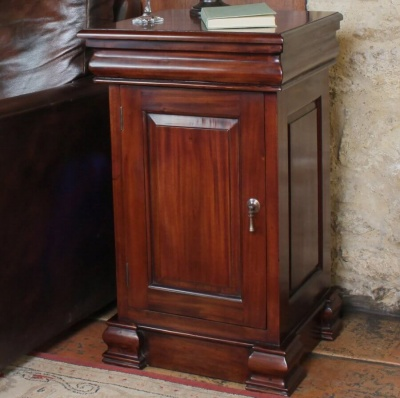 La Roque Mahogany Lamp Table/ Pot Cupboard