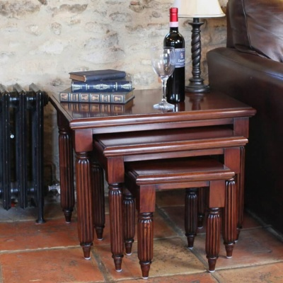 La Roque Mahogany Nest of Tables