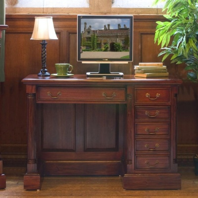 La Roque Mahogany Single Pedestal Computer Desk