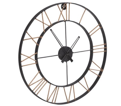 Lincolin Large Metal Wall Clock