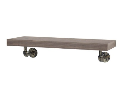 Loft Wall Shelf with Pipe Design Brackets - 60 cm