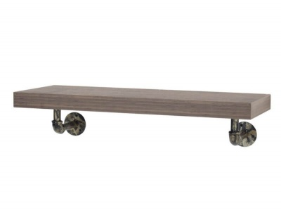 Loft Wall Shelf with Pipe Design Brackets - 90 cm