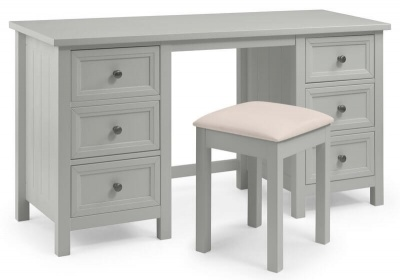 Maine Dove Grey Dressing Table & Stool