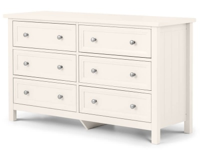 Maine Surf White 6 Drawer Wide Chest