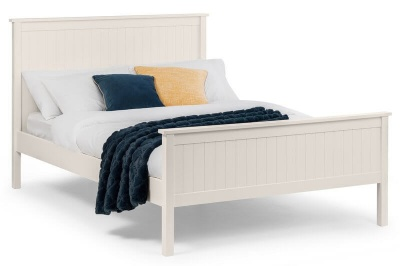 Maine Surf White Double Bed Frame