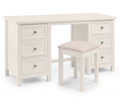 Maine Surf White Dressing Table & Stool