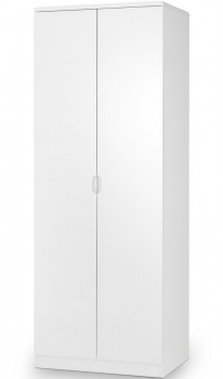 Manhattan High Gloss White 2 Door Wardrobe