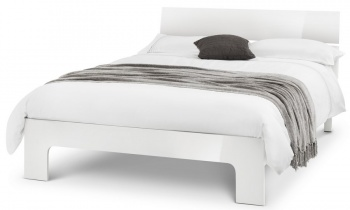 Manhattan High Gloss White Double Bed