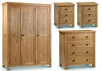Marlborough Oak 3 Door Bedroom Set