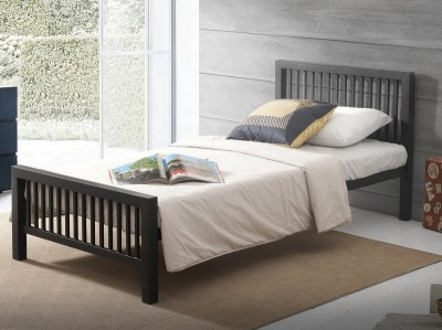 Meridian Black Metal Bed Frame - Single