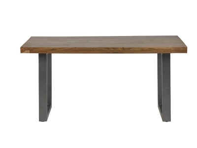Metropolis Industrial Dining Table - Wood & Metal