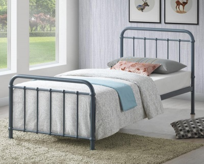 Miami Grey Metal Bed Frame  - Single