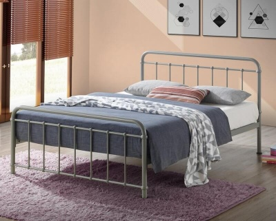 Miami Pebble Metal Bed Frame  - King-Size