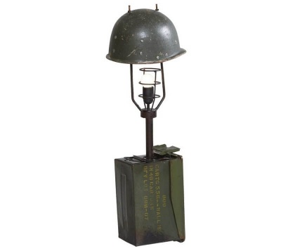 Military Cap Table Lamp