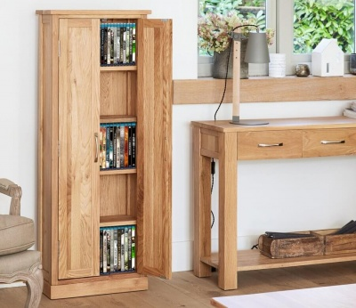 DVD Storage Cupboard Mobel Oak