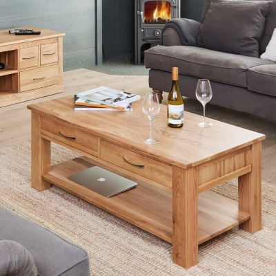 Four Drawer Coffee Table Mobel Oak