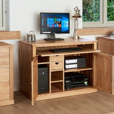 Hidden Home Office Mobel Oak