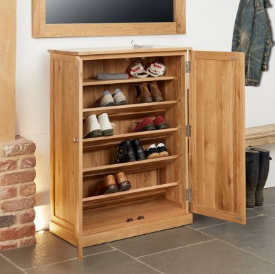 Large Shoe Cupboard Mobel Oak