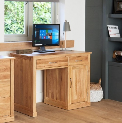 Single Pedestal Computer Desk Mobel Oak