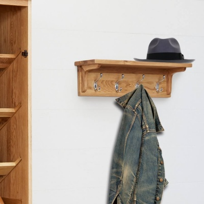 Wall Mounted Coat Rack Mobel Oak