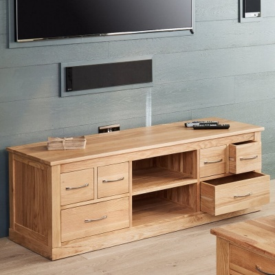 Widescreen Television Cabinet Mobel Oak