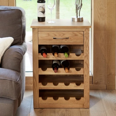 Wine Rack Lamp Table Mobel Oak